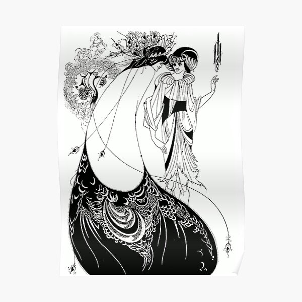 Aubrey Beardsley, Peacock Skirt -  Poster