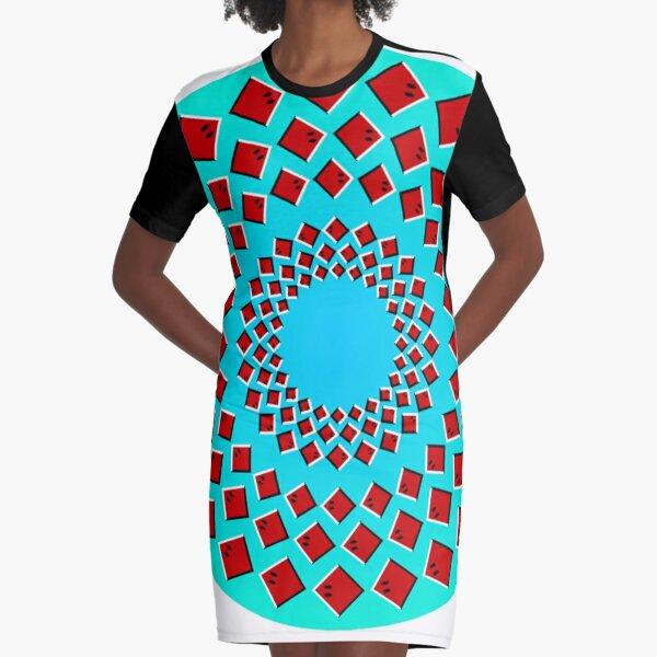 Anomalous motion illusions Graphic T-Shirt Dress