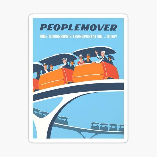 Affiche de Tomorrowland PeopleMover Transit Authority Sticker