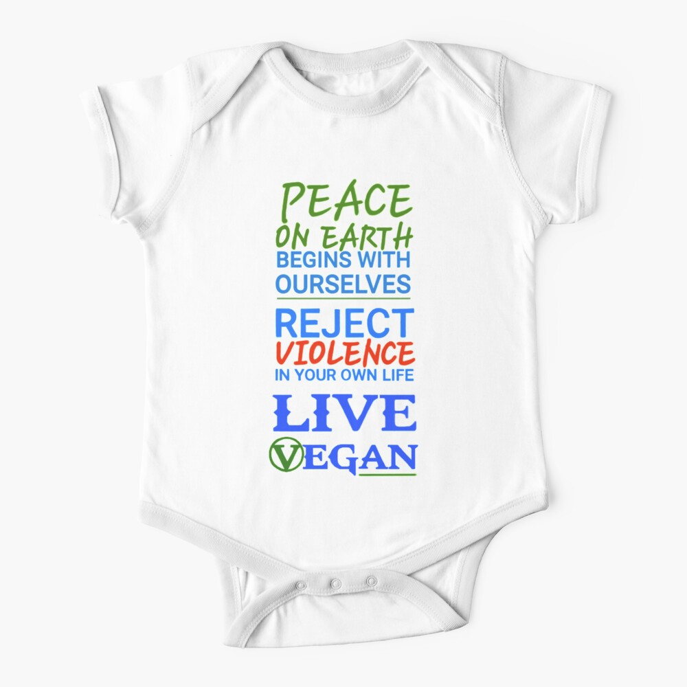 Live Vegan Ⓥ Baby One-Piece