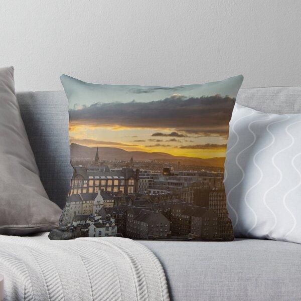 Edinburgh Old Town, Scotland Throw Pillow