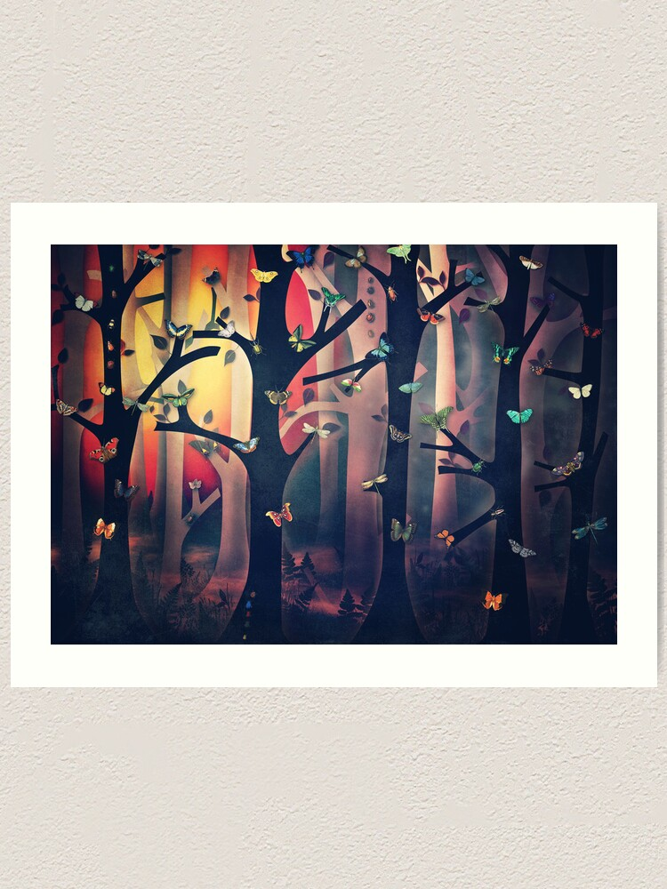 Alternate view of The Woods at Sunset Art Print