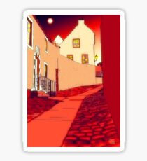 Dysart: Scottish Town digital drawing Sticker