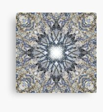 Abstract kaleidoscope shape marble texture design Canvas Print