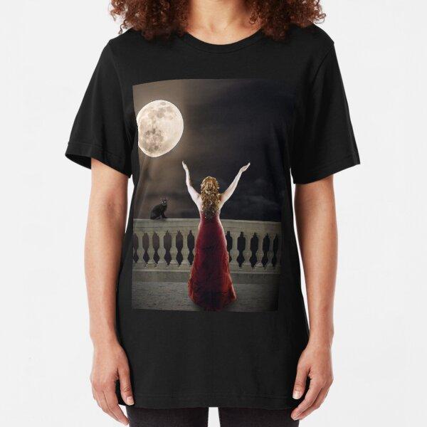 Moon Worship Slim Fit T-Shirt