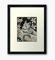Blue Jungle Cat Of The Night Framed Print