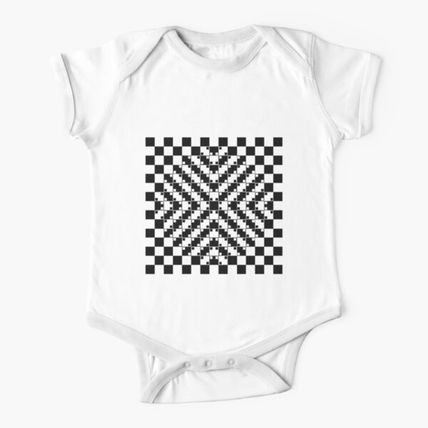 Anomalous motion illusions Short Sleeve Baby One-Piece