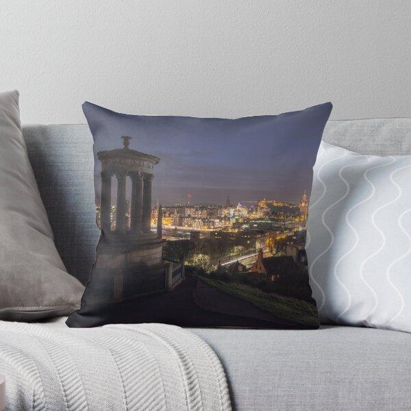 Edinburgh, Scotland (Long Exposure) Throw Pillow