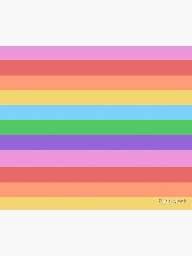 Happy Little Rainbow Stripes by ryanpmack