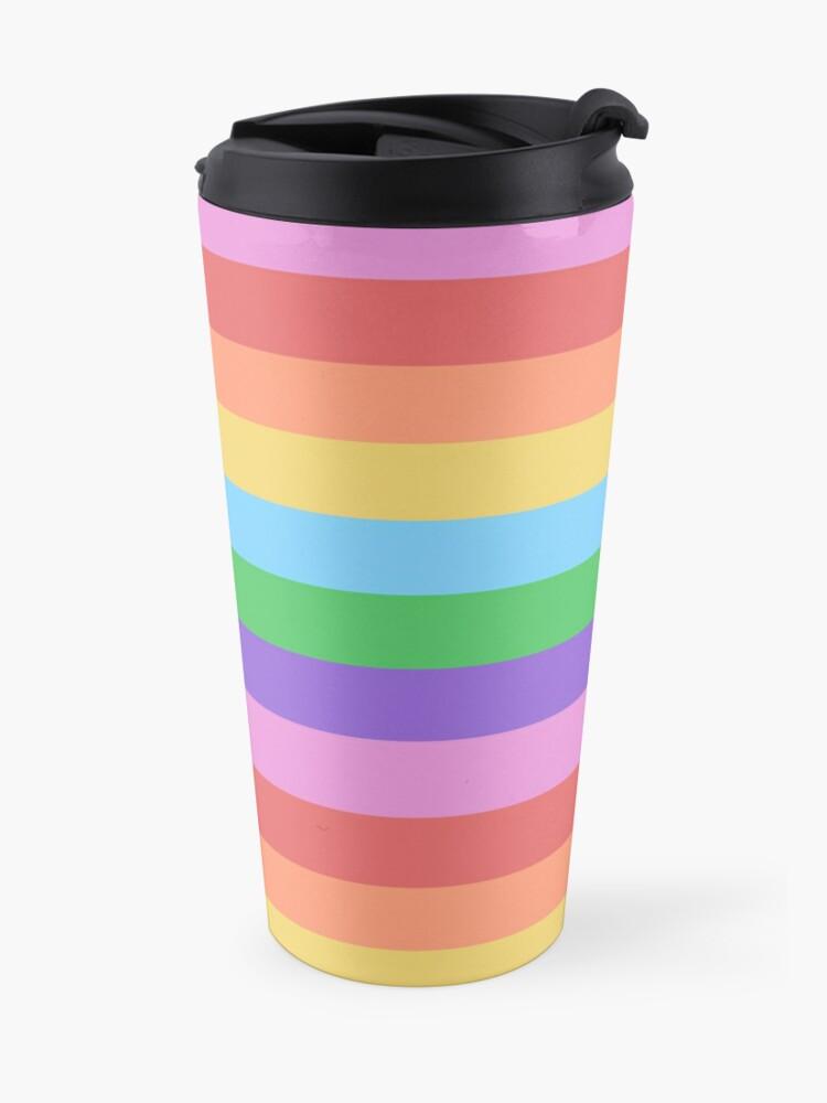 Alternate view of Happy Little Rainbow Stripes Travel Mug
