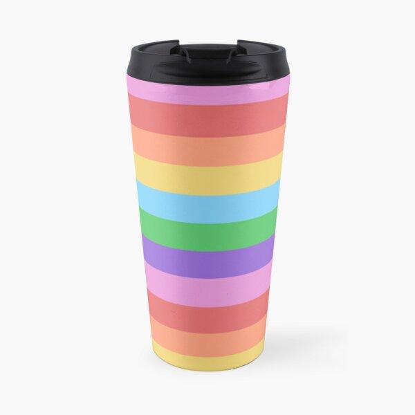 Happy Little Rainbow Stripes Travel Mug