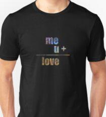 me + u = love Unisex T-Shirt