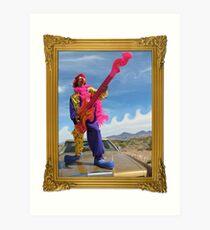 Wacky Clown Guitarist Art Print