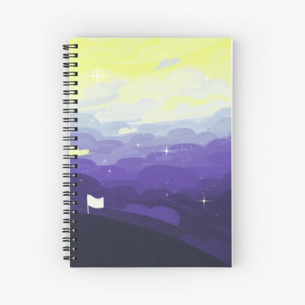 Pride Skies (Nonbinary) Spiral Notebook