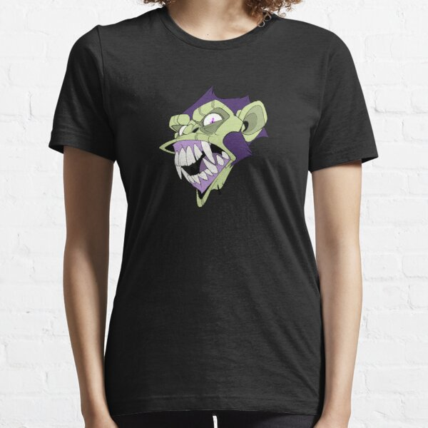 Angry Monkey - Purple/Green No Text Essential T-Shirt