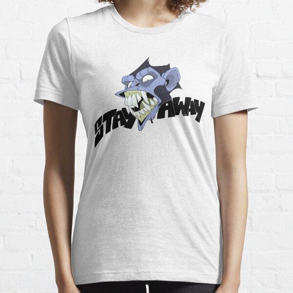 Angry Monkey - Blue/Acid Essential T-Shirt