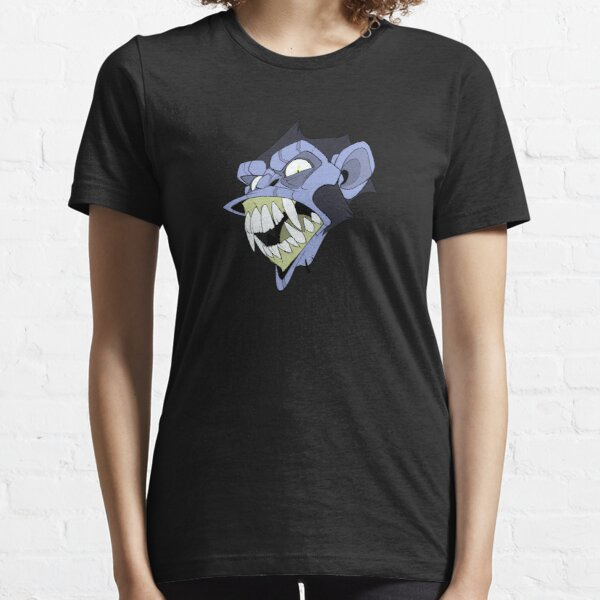 Angry Monkey - Blue/Acid No Text Essential T-Shirt