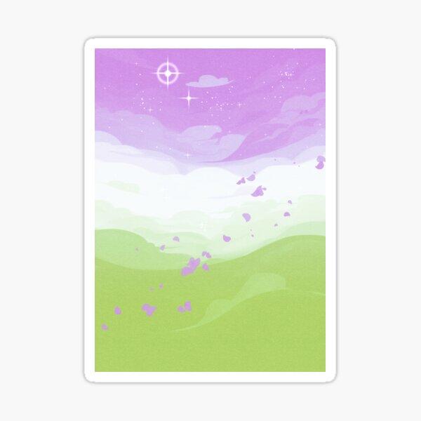 Pride Skies (Genderqueer) Sticker