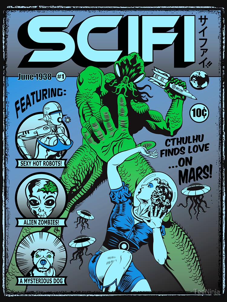 Cthulhu en la portada de SCIFI de TeeNinja