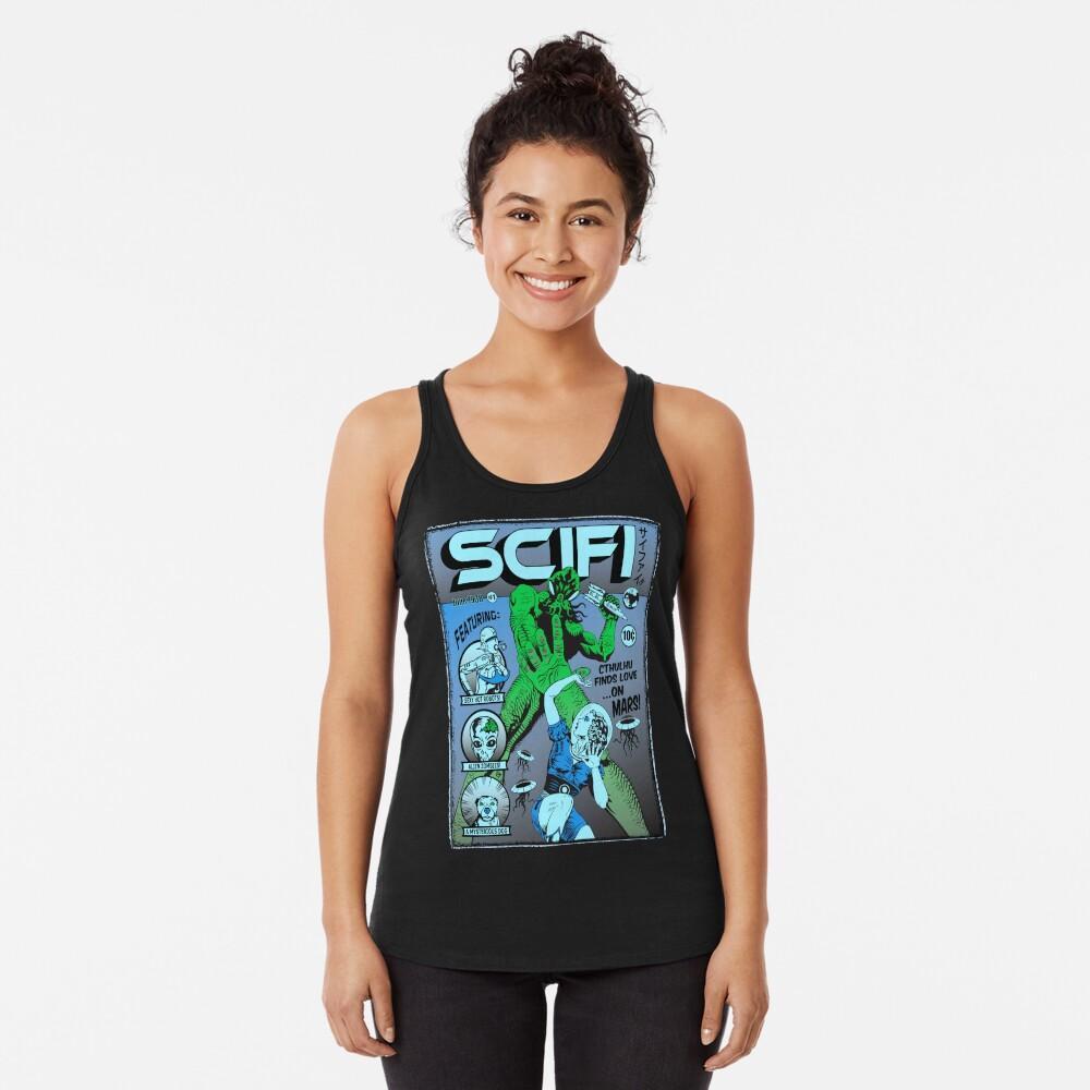 Cthulhu en la portada de SCIFI Camiseta con espalda nadadora