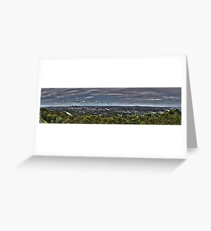 Brisbane from Mt Coot Tha Greeting Card