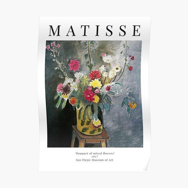 Henri Matisse - Bouquet de fleurs mélangées - Affiche d'exposition Poster