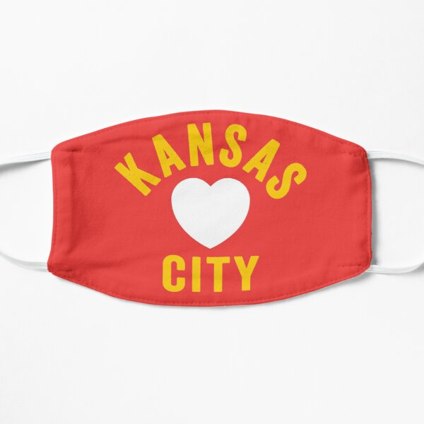 KC Mask Kansas City Heart Red Yellow KC Kingdom Kc Hearts Love Letter Football Sports Fan 2020 Classics Mask