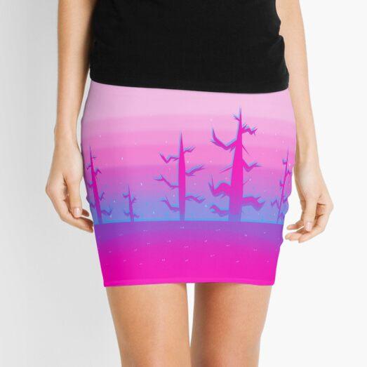 Bare Pink Trees Mini Skirt