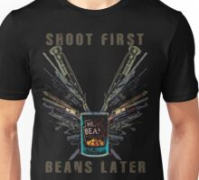 Shoot First. Beans Later. Unisex T-Shirt