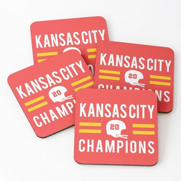 KC Face mask Kansas City facemask Kansas City Red KC 2020 World Champions Champs Kc Sports Fan Classics Coasters (Set of 4)