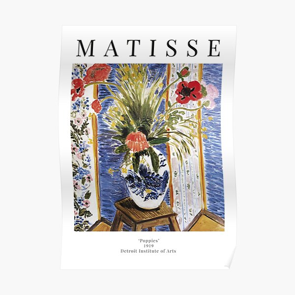 Henri Matisse - Poppies - Exhibition Poster Poster