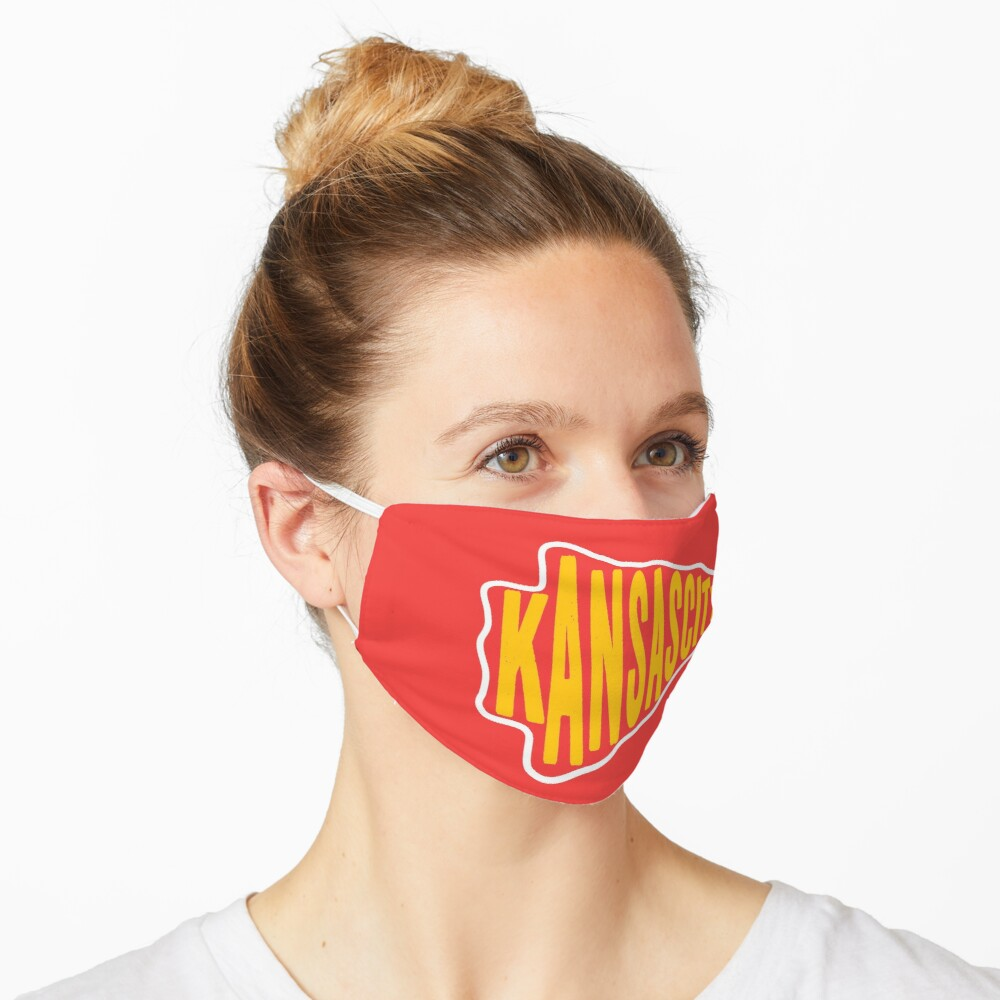 KC Face mask Kansas City facemask KC Arrowhead Kansas City Red 2020 Sports Fan Classics Mask