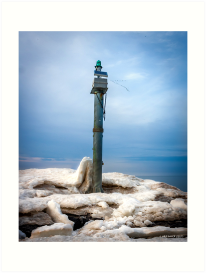 The Light on Webster Pier by Mikell Herrick