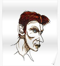 David Bowie Caricature Poster
