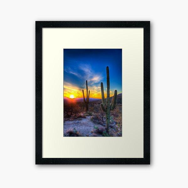 Sunset in the Desert Framed Art Print