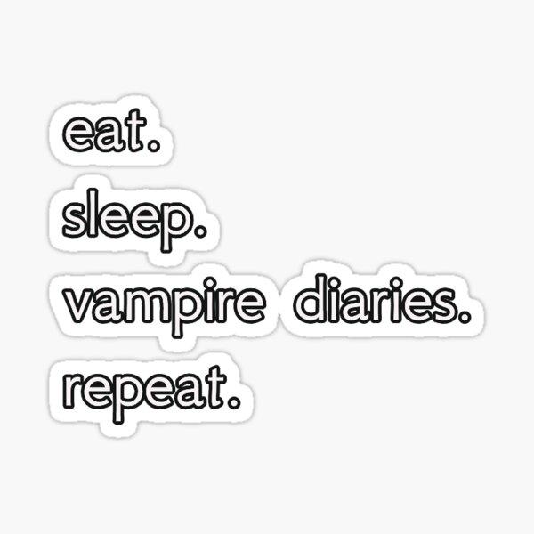 diario de vampiro Pegatina