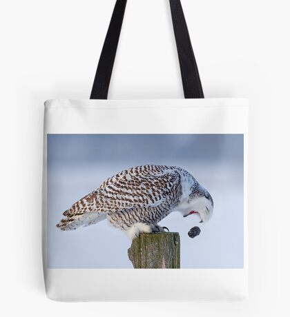 Cough it up buddy - Snowy Owl Tote Bag