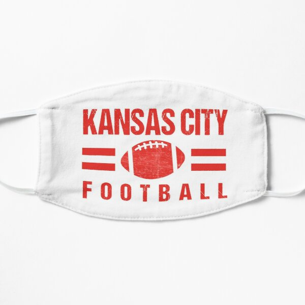 KC Kansas City Football Red and KC Yellow KC Tailgating Champs 2020  Mask