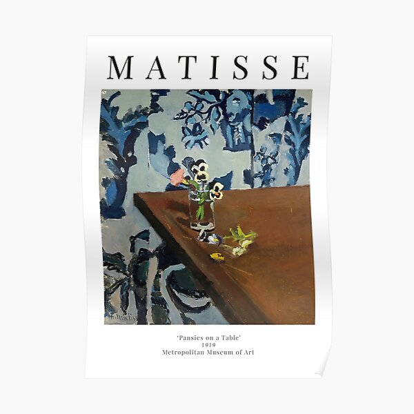 Henri Matisse - Pansies on a Table - Exhibition Poster Poster