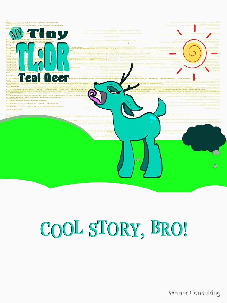 My Tiny Teal Deer / My Little Tiny Teal Deer by HalfNote5