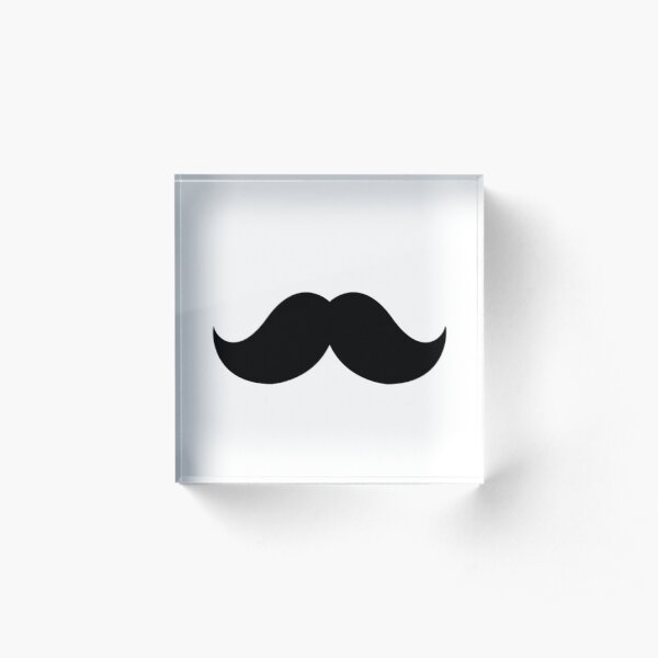 moustache Acrylic Block