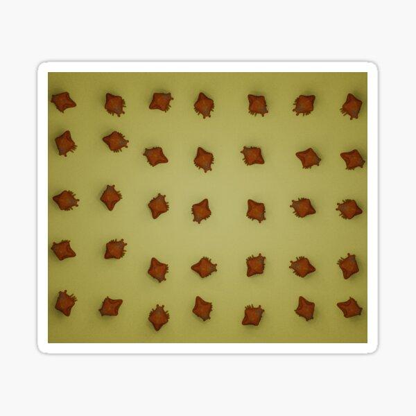 Alien Crustacian on sand pattern Sticker