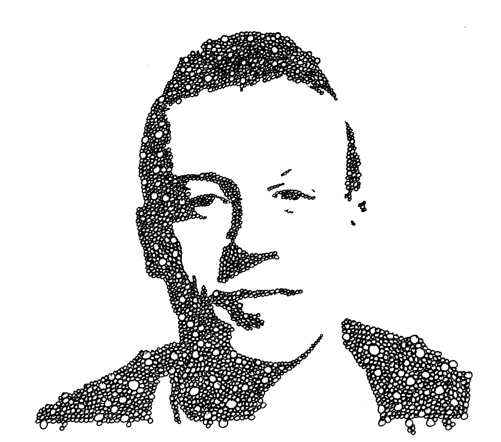 Macklemore Bubble Portrait by RaffttaM