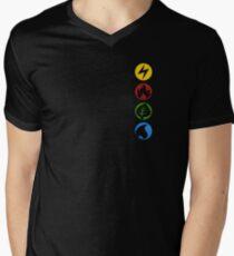 Lightning, Fire, Grass and Water. Men's V-Neck T-Shirt