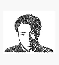 Childish Gambino Bubble Portrait Photographic Print