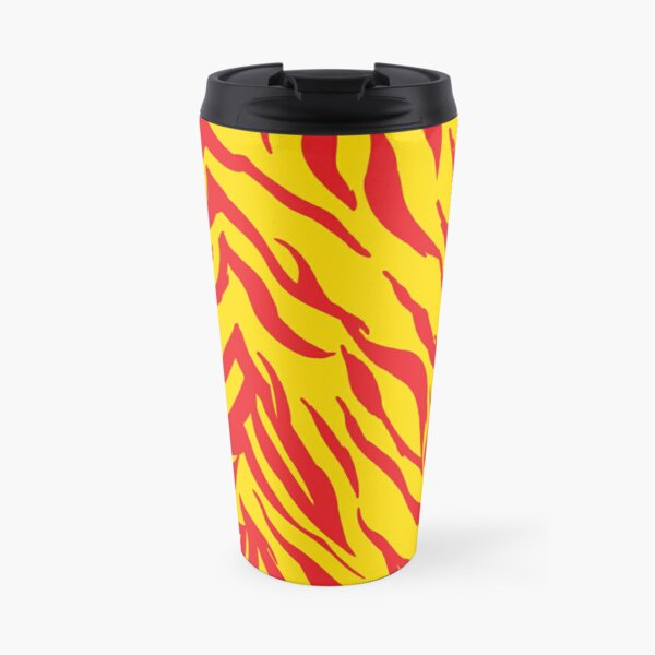 Mask KC Retro Zebra Stripes Football Kansas City Vintage Kc football Kingdom Kansas city Zebra KC cheetah Stripes Pro Gear Travel Mug