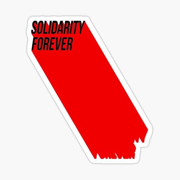 Solidaridad para siempre Pegatina