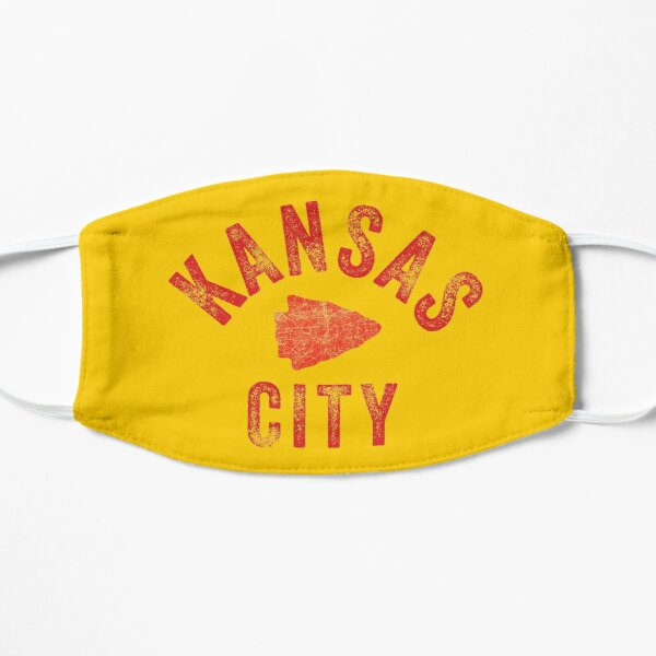 KC Face mask Kansas City facemask Classic Kansas City Football KC Yellow & Red Kingdom Football Kc Gear Mask