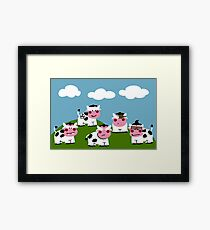 Hooligan Cows Framed Print