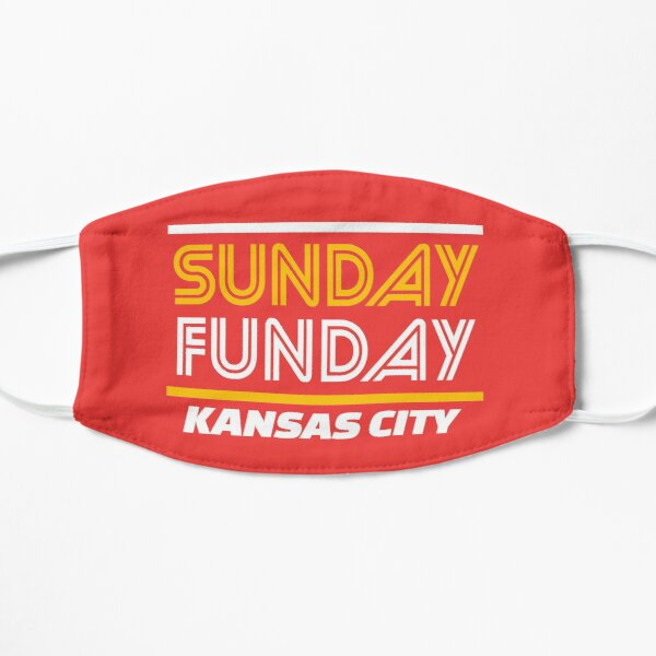 Sunday Funday Kansas City KC Red & Yellow Kingdom Kc Gear KC Face mask Kansas City facemask Mask